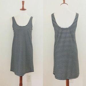 Madewell Swing Stripe Sleeveless  Dress Small